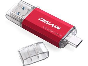 DISAIN 128GB USB C Flash Drive Type C Flash Drive(USB-A 3.0/USB-C 3.0) High Speed Dual USB Memory Stick Thumb Drive for USB-C Smartphones Tablets PC MacBook Pro/Air