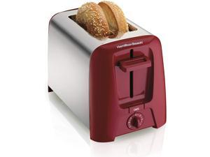 Hamilton Beach 2 Slice Extra Wide Slot Toaster with Shade Selector Toast Boost Auto Shutoff Red (22623)