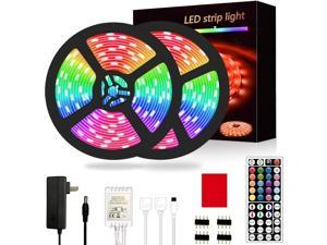 Segrass Led Strip Lights??32.8ft 5050 RGB Led Rope Lights IP20 Non Waterproof Color Changing with 20 Colors 8 LightLED Lights Strips Kit with 44 Keys IR Remote Controller 12V Power Supply