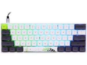 EPOMAKER SK61 61 Keys Hot Swappable Mechanical Keyboard with RGB Backlit NKRO Water-Resistant Type-C Cable for Win/Mac/Gaming (Gateron Optical Green Panda)