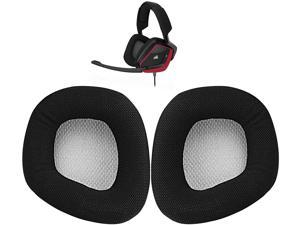 Replacement Ear Cushion Pads Parts for Void Wired/Wireless Corsair Void PRO RGB USB Gaming Headset ONLY (Black+Grey)