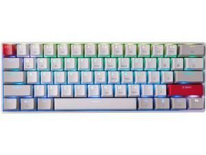 NEWMEN GM610 61 Keys 60% Wireless Mechanical Gaming Keyboard NKRO with Extra Keycap Set RGB Backlit Type-C Cable Hot Swappable Switches for Windows/Mac/Android Blue Switch