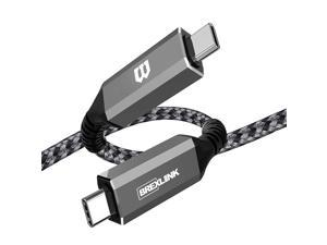USB 4 Cable 5ft(USB-C to USB-C) BrexLink 40Gbps Data Transfer/ 100W 5A Charging/ 5K@60Hz Type-C Compatible with External SSD eGpu USB-C Docking Station MacBook (Grey)