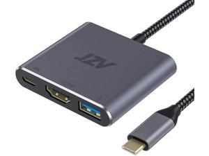 USB C to HDMI Adapter JZV Digital AV Multiport Adapter USB 3.1 Type C Adapter Hub to HDMI with 4K HDMI Output USB 3.0 Port and USB-C Charging Port Compatible for MacBook Pro MacBook Air 2020