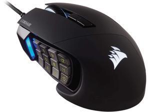 Corsair Scimitar RGB Elite MOBA/MMO Gaming Mouse Black Backlit RGB LED 18000 DPI Optical