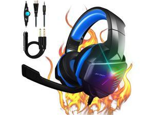 PS4 Headset Gaming Headset Xbox One Headset with 7.1 Stereo Surround Sound Noise Canceling Over Ear Headphones with Mic PC Headset 50mm Drivers Compatible with Xbox One Switch PC PS3 Mac Laptop