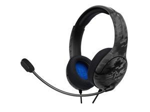 PDP Gaming LVL40 Wired Headset With Noise Cancelling Microphone: Black Camo, PS5/PS4