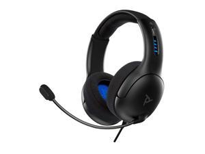 PDP Gaming LVL50 Wired Headset With Noise Cancelling Microphone: Black - PS5/PS4