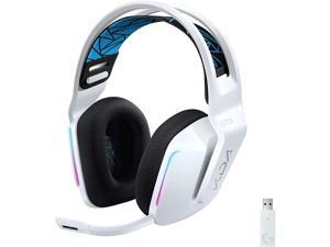 Logitech G733 K/DA Lightspeed Wireless Gaming Headset with Suspension Headband~16.8 M. Color LIGHTSYNC RGB Blue VO!CE Mic Technology and PRO-G Audio Drivers - Official League of Legends KDA Gear