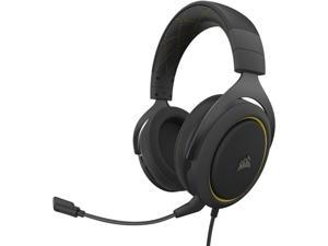 Corsair HS60 Pro &ndash 7.1 Virtual Surround Sound PC Gaming Headset w/USB DAC - Discord Certified Headphones &ndash Compatible with Xbox One PS4 and Nintendo Switch &ndash Yellow (Renewed)