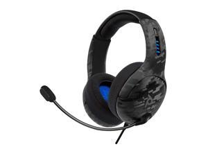 PDP Gaming LVL50 Wired Headset With Noise Cancelling Microphone: Black Camo - PS5/PS4