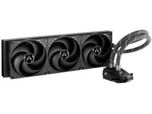 ARCTIC Liquid Freezer II 420 - Multi Compatible All-in-One CPU AIO Water Cooler Compatible with Intel & AMD Efficient PWM Controlled Pump Fan Speed: 200-1700 RPM (Controlled via PWM) - Black