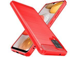 Osophter for Galaxy A42 5G Case Samsung M42 5G Case Shock-Absorption Flexible TPU Rubber Protective Cell Phone Cover for Samsung Galaxy A42 5G(Red)