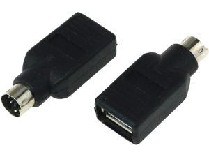 DGZZI USB to PS2 Adapter 2PCS Black USB Female to PS/2 Male Converter Adapter for Mouse and Keyboard