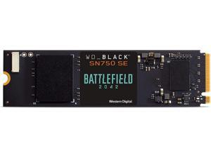 WD_BLACK 1TB SN750 SE NVMe SSD with Battlefield 2042 Game Code Bundle - Gen4 PCle Internal Gaming SSD Solid State Drive M.2 2280 Up to 3 600 MB/s - WDBB9J0010BNC-NRSN