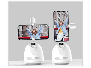 Tracking Holder Smart?NO APP Required? FORUTIME 360° Auto-Face Tracking Selfie Stick, Suitable for Phone, Tablet - Cell Phone Camera Mount for Tripod Stand for Live Streaming, Live Video