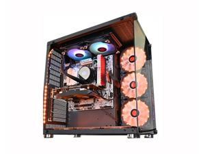 GAMEKM ROBIN II Full Tower High-Airflow ATX Gaming Computer Case, Full-side Tempered Glass Digital-RGB Lighting PC Case,Water-Cooled e-sports Game Case, Support for ATX Micro ATX