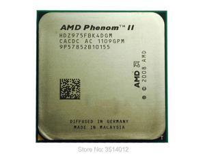 AMD Phenom II X4 975 Black Edition X4 975 3.6 GHz Quad-Core CPU Processor HDZ975FBK4DGM Socket AM3