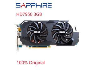 HD7950 3GB Video Card GPU For AMD Radeon HD 7950 3GB GDDR5 Graphics Screen Cards PC Computer Gaming l