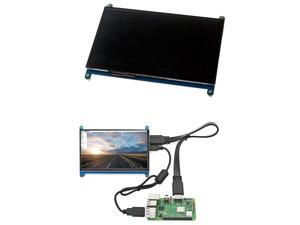 1 Set 7 Inch Display LCD 1024X600 HDMI TFT Monitor + Holder Case & 1Pcs 7 Inch Display Monitor Case Support Holder Black