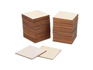 80 Pieces Square Unfinished Blank Wood Pieces for Painting Writing and DIY Arts Crafts Project,3 x 3 Inch
