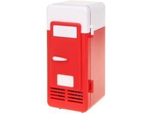 Mini Red USB Fridge Cooler Beverage Drink Cans Cooler / Warmer Refrigerator for Laptop PC Computer