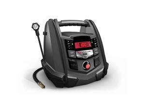 Rechargeable AGM Jump Starter and Portable USB/DC Power Station – 1200 Amp – with Air Compressor and LED flex light