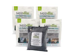 The Original Air Purifying Bag. for Cars, Closets, Bathrooms, Pet Areas. an Unscented, Chemical-Free Odor Eliminator. 200g 4 Pack (Charcoal)