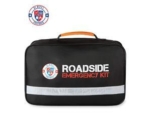 Premium 125 Piece Roadside Emergency Assistance Kit with Jumper Cables - All-in-One Auto, Visibility, Safety, and First Aid Essentials