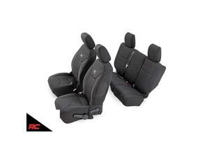 Neoprene Seat Covers | (fits) 2013-2018 Jeep Wrangler JK 4DR | 1st/2nd Row | Water Resistant | | 91004