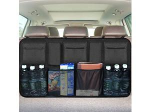 Backseat Trunk Organizer, Trunk Organizers Backseat Storage for ,Truck, SUV, Van Organizers Back Seat Mesh Pockets