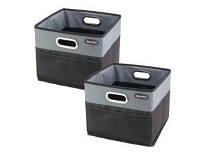 CargoCube Trunk and Car Organizer Bins with Leakproof Lining - set of 2 (Black)