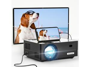 Yefound Q5 Video Projector 720P Native with 72Inch Projector Screen WiFi Home And Outdoor Movie Projector 50000 Hours Lamp Life Compatible With Home Theater Fire Stick TV Box Laptop Video Games