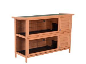 Wooden Rabbit Hutch Small Animal Pet House Yard Bunny Cage w/ Run  Tray 3 SIZE
