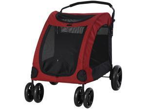 Pet Stroller Universal Wheel Foldable Medium or Large Size Dogs