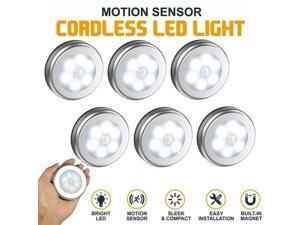 6LED Motion Sensor Night Lights PIR Wireless Wall Closet Stair Wireless Lamp