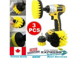 3pc Drill Cleaning Brush Power Drill Attachment Grout Tile Cleaner Scrub Tool