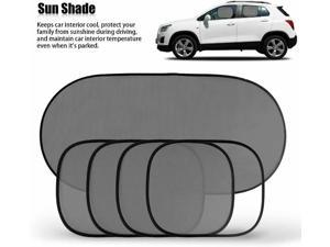 5pcs Car Window Sun Shades Black Mesh Blinds Visor Shield Cover for Baby Kids