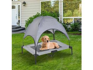 Elevated Pet Bed Covered Canopy Raised Dog Cot w/ Carrying Bag