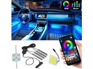 Car Interior Led Lights Bluetooth APP Control  White Leds  License Plate Leds