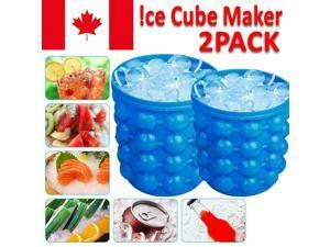Silicone Ice Cube Magic Maker Revolutionary Space Saving Ice Tray Bucke CA