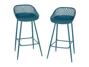 2 Pieces Metal Counter Bar Height Stools Pub Chairs