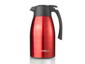 Red Premium Double Vacuum Insulated Coffee Carafe Stainless Steel Flask, 1.5L