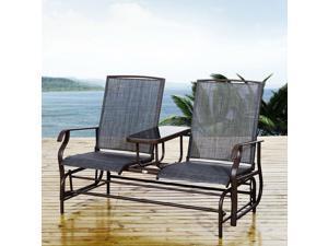 "Clearance Sale 58"" 2 Person Glider Rocking Chair Garden Bench Outdoor"