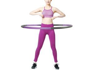 2.6lbs Weighted Hula Hoop Fitness Padded Abs Exercise Gym Workout Collapsible