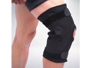 Double Metal Hinged Full Knee Support Brace Knee Protection Tennis Skiing L/XL