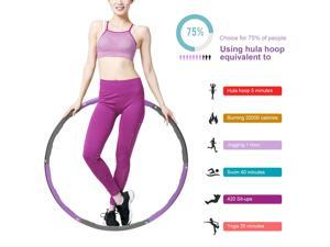 Collapsible 2.6lbs Weighted Hula Hoop Fitness Padded Abs Exercise Gym Workout