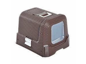 Portable Cat Litter Box Pet Kitty Toliet Washroom W/ Tray Scooper Travel Light