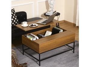 Lift Top Coffee Table w/ Hidden Storage Compartment Dining Table