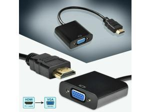 1080P HDMI Male to VGA Female Adapter Audio for Computer, Desktop, Laptop, PC